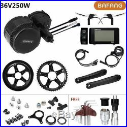 36V250W Bafang Mid Drive Electric Bike Hub Retrofit Kit Conversion Kit BBS DIY