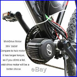 36V 350W Mid Drive Conversion Kit Electric Bicycle Bike eBike W' Speed Display
