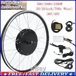 36/48V Electric Bicycle DIY HUb Motor Wheel Conversion Kit Ebike Cycling Refit