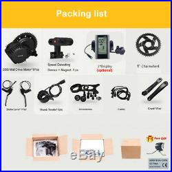 48V 1000W BAFANG BBSHD Mid Drive Motor Conversion Kit with 48V 12Ah/17.5Ah Battery