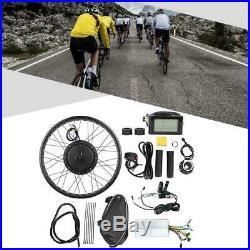 48V 1000W Electric Bike Bicycle Hub Motor Conversion Kit 20/26'' Wheel Display