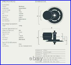 48V 750W Bafang BBS02B Mid Drive Motor Conversion Kits Ebike Bicycle Free Duty