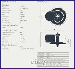 48V 750W Bafang BBS02B Mid Drive Motor ebike Motor Electric Bike Conversion Kit