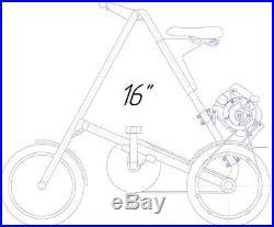 4 stroke 25cc belt drive gas motorized bicycle conversion kit for Stida 16
