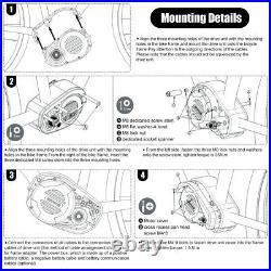 52V 1000W BAFANG M620 Mid Drive Motor eBike Conversion Kits With DPC18 Display