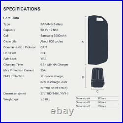 BAFANG 1000W Electric Bike Conversion Kit M625 Ebike Mid Drive Motor + Battery