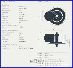 Bafang 48V 750W BBS02 Mid Drive Motor Conversion Kit Ebike P850C 44T UK Stock