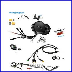 Bafang BBS02B 48V750W mid drive conversion kit G70 48V 17.5AH 14.5AH 13AHbattery