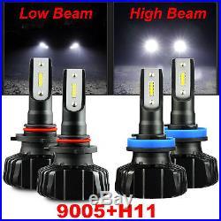 CSP 60W 9005 H11 Combo 6400LM LED Headlight High/Low Beam Fog Light Bulbs White