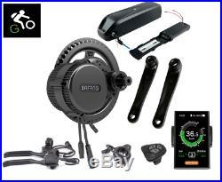 Complete 250W E-Bike Conversion Kit Bafang Mid-Drive Motor Hub LCD UPGRADED