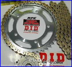 DUCATI M900'94/99 DID 525 GOLD CHAIN AND SPROCKETS KIT Premium 525 Conversion
