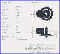EU Duty Free BBS03SHD 48V 1000W Bafang Mid Drive Kit 68/100/120 conversion kit