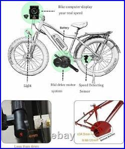 Ebike 48V 1000W BBSHD Bafang Mid-Drive Motor Conversion Kit +52v 19.2Ah Battery