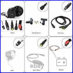 Ebike 52V1000W Bafang Mid Drive Motor Convertion Kit Accessory Replacement 68mm