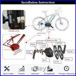 Ebike BAFANG 48V 750W BBS02B Mid Drive Motor Conversion Kits DIY Electric Bike
