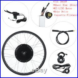 Ebike Conversion Kit 72V 3000W Motor Wheel Rim 26 Rear Drive Electric Cycling