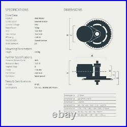 Ebike Conversion Kit BAFANG BBS02B 48V 750W Mid Drive Motor Electric Bike Engine
