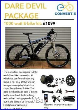 Ebike Conversion Service 250w, 750w and 1000w Ebike Mid Drive Kits Bafang Motor