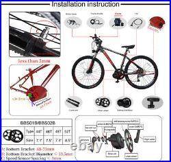 Electrci Bicycle BAFANG 36V 350W BBS01B Mid Drive Motor Conversion Kit DIY Ebike