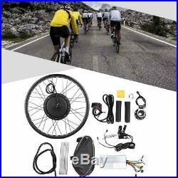 Electric Bike 48V 1000W Hub Motor Conversion Kit 26'' Wheel E-bike Refit Parts