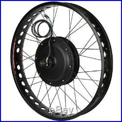 Electric Bike 48V 1000W Hub Motor Conversion Kit Wheel 26x4 inch Rear drive