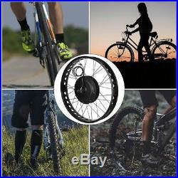 Electric Bike 48V 1000W Hub Motor Conversion Kit Wheel 26x4 withMeter Controller