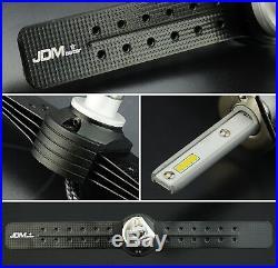 JDM ASTAR 2x High Power 6S 8000LM H1 LED Headlight Low Beam Bulbs 6500K White