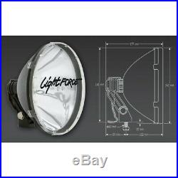 LIGHTFORCE 240 BLITZ DRIVING SPOT LIGHTS With AFTERMARKET 55W HID CONVERSION KIT