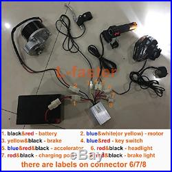 L-faster 24V36V250W Electric Conversion Kit For Common Bike Left Chain Drive For