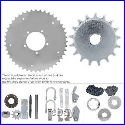 Motorized Bike Jackshaft Kit Center Shaft Drive Conversion Parts Modified Set