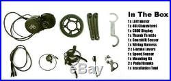 UK Road Legal 36V Switchable 250/500 watt E-bike mid drive motor conversion kit