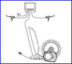 UK stock Tongsheng TSDZ2 48V 500W Mid Drive Motor Conversion Kit Ebike Torque